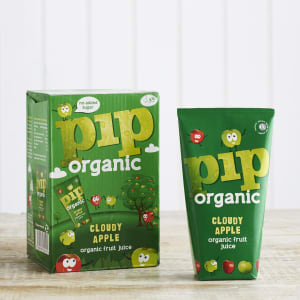 Pip Org Cloudy Apple Cartons, 4 x 180ml
