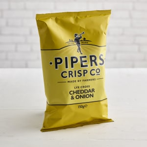 Pipers Crisps Lye Cross Cheddar & Onion, 150g