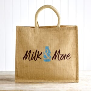 Milk & More Hessian Bag