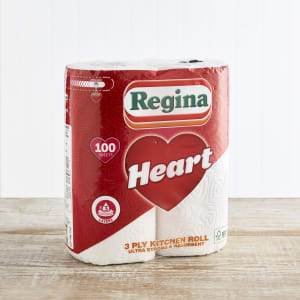 Regina Hearts Kitchen Roll 2pk