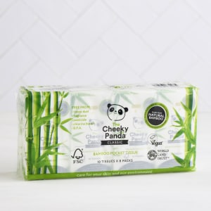 The Cheeky Panda Pack of 8 Bamboo Pocket Tissues