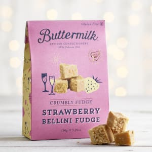 Buttermilk Strawberry Bellini Fudge Sharing Box, 150g