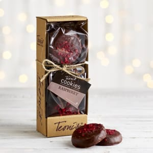 Teoni's Cookies Enrobed Chocolate & Raspberry Shortbread, 225g