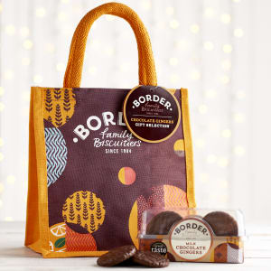 Borders Chocolate Ginger Jute Bag, 175g