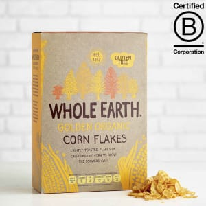 Whole Earth Golden Organic Corn Flakes, 375g