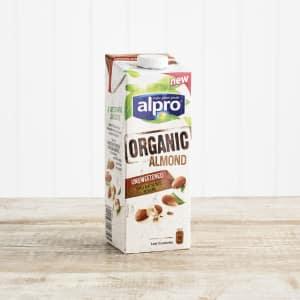 Alpro Organic Unsweetened Almond, 1ltr