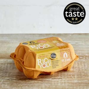 St Ewe Rich Yolk Free Range Eggs, 6 Pack