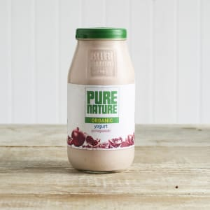 Pure Nature Organic Pomegranate Yoghurt in Glass, 500g