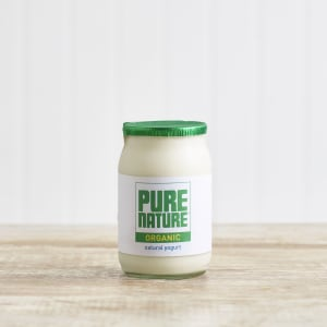 Pure Nature Organic Natural Yoghurt in Glass, 150g
