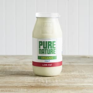 Pure Nature Organic Low-Fat Yoghurt in Glass, 500g