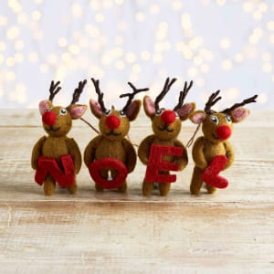Felt So Good Noel Reindeer, Set of 4