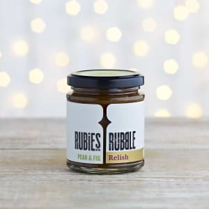 Rubies in the Rubble Pear & Fig Relish in Glass, 210g