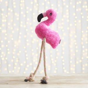 Beco Hemp Rope Flamingo Dog Toy, Medium