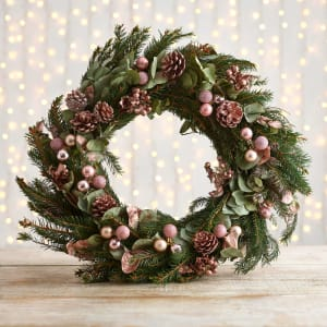 Rose Gold Christmas Wreath