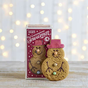 Lottie Shaw's Gingerbread Snowmen, Pack of 4, 200g