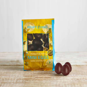 Montezuma's Vegan Dark Chocolate with Peanut Butter Mini Eggs, 150g