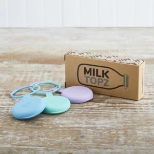 Milk Topz Reusable Bottle Tops, 3 Pack