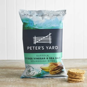 Peter's Yard Suffolk Cyder Vinegar & Sea Salt Sourdough Bites, 90g