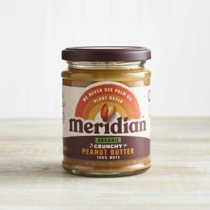 Meridian Organic Crunchy Palm Oil Free Peanut Butter in Glass, 280g