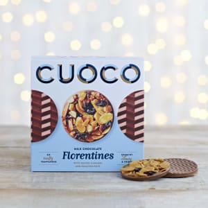 Cuoco Milk Chocolate Florentines with Salted Caramel and Roasted Nuts, 115g