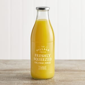 The Village Press Freshly Squeezed Orange Juice in Glass, 1Ltr