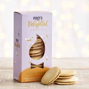 Percy's Salted Caramel Creams Sandwich Biscuits, 135g
