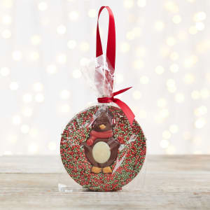 Cocoba Christmas Penguin Milk Chocolate Tree Hanger, 50g