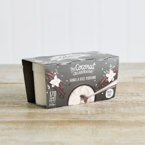The Coconut Collaborative Dairy Free Vanilla Rice Pudding, 2 x 125g