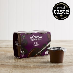 The Coconut Collaborative Dairy Free Little Choc Pots, 4 x 45g