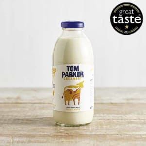 Tom Parker Banana Fudge Flavoured Milk in Glass, 500ml