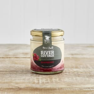 River Cottage Organic Raspberry Yoghurt in Glass, 160g