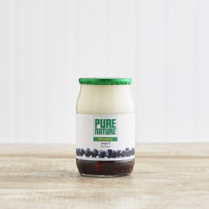 Pure Nature Organic Blueberry Yoghurt in Glass, 150g