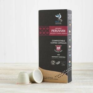 Blue Goose Organic Peruvian Eco Coffee Capsules, 10 Pack