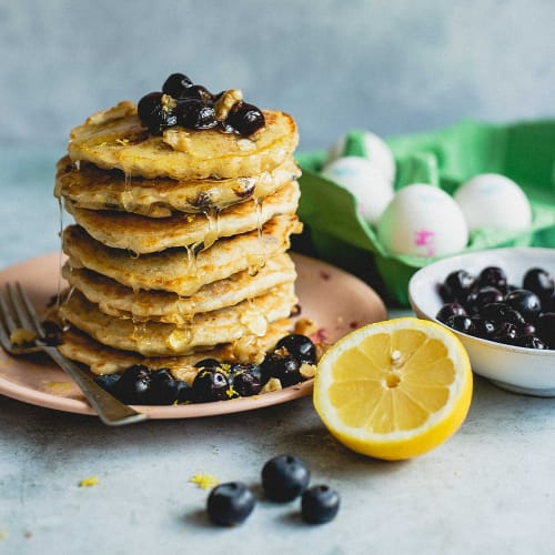 Lemon and Blueberry Buttermilk Pancakes