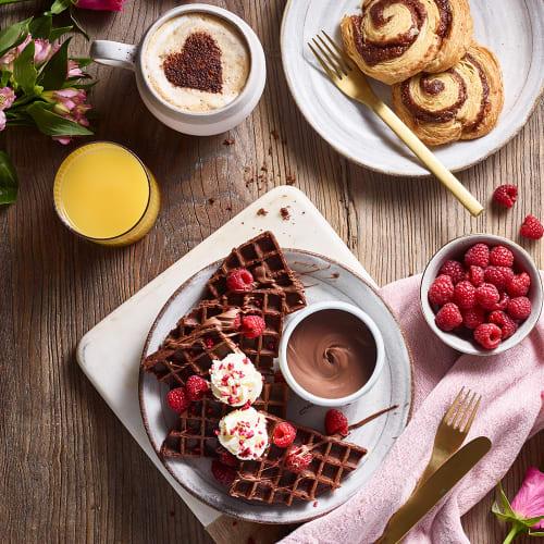 Dreamy Valentine's Day Chocolate Waffles